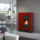 Piazzetta automated wood pellet fireplace from Calore