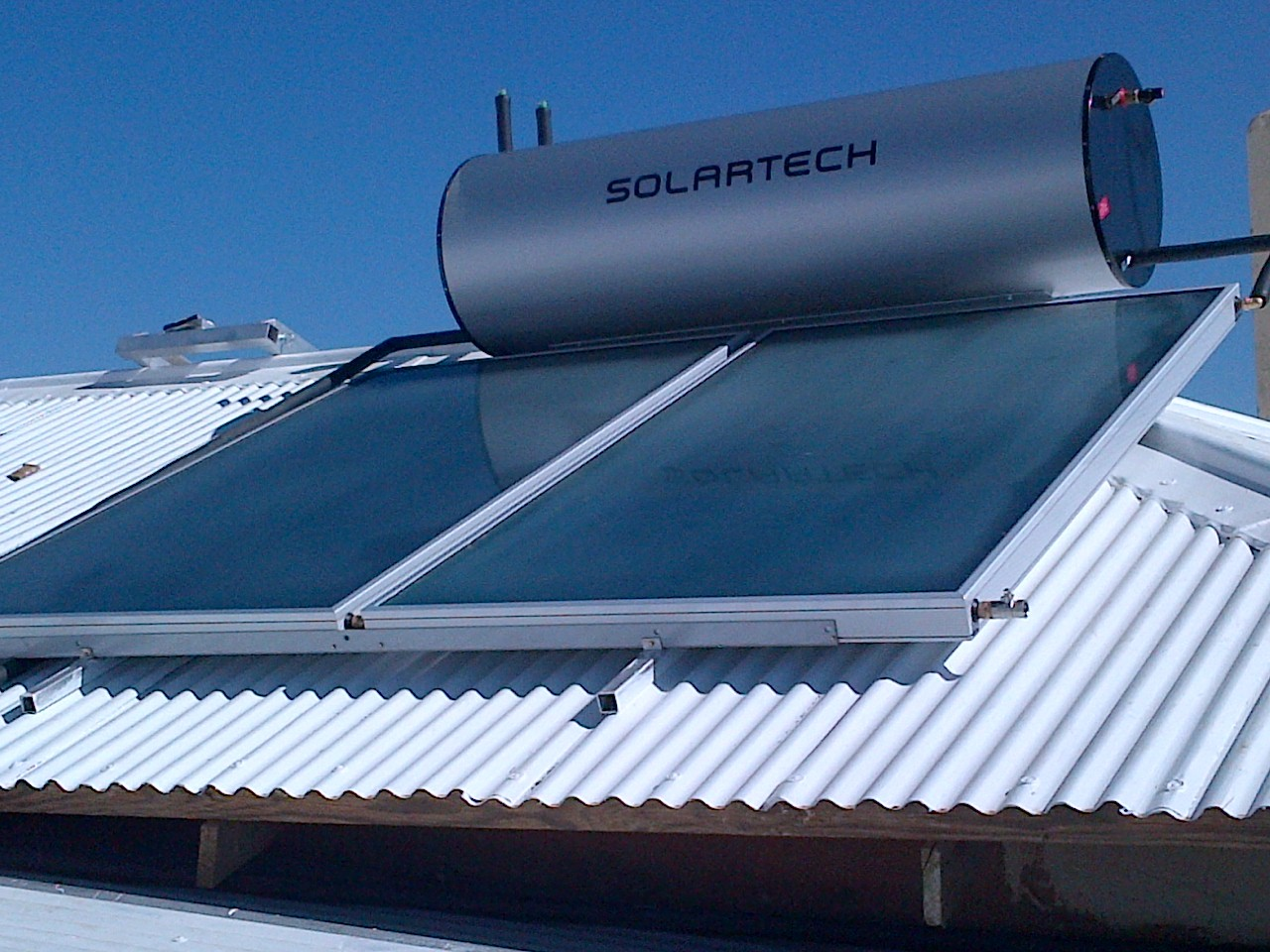 Solartech 300L indirect solar geyser